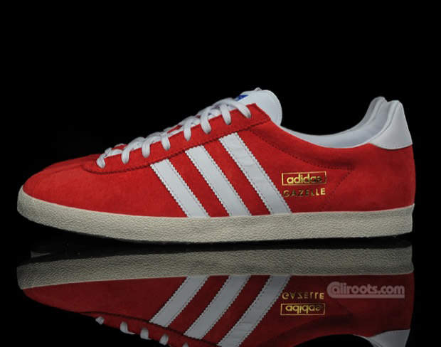 adidas original gazelles og red