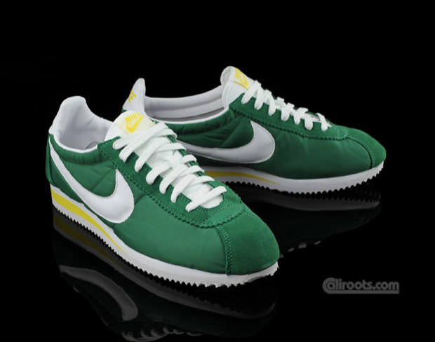 ... Nike Cortez Nylon Green/White-Yellow