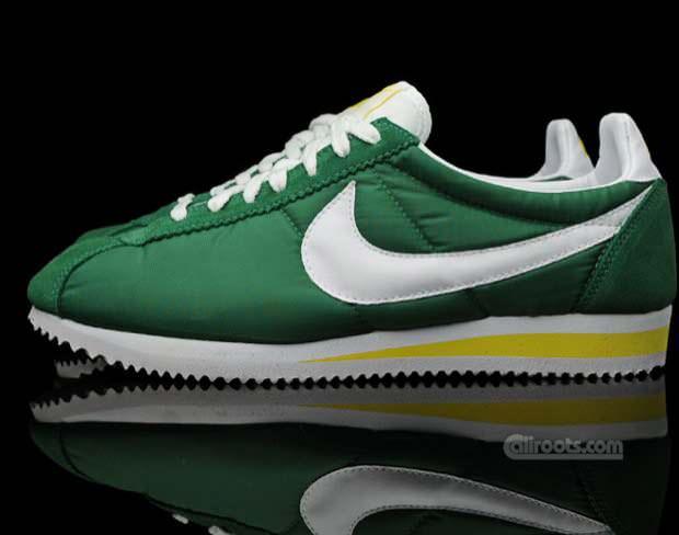 timeless design 685ec 6b6d6 Nike Cortez Nylon Green/White-Yellow   Nice Kicks
