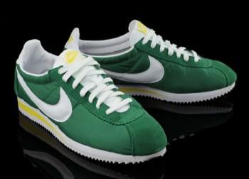 timeless design 3a678 9abe7 Nike Cortez Nylon Green/White-Yellow | Nice Kicks