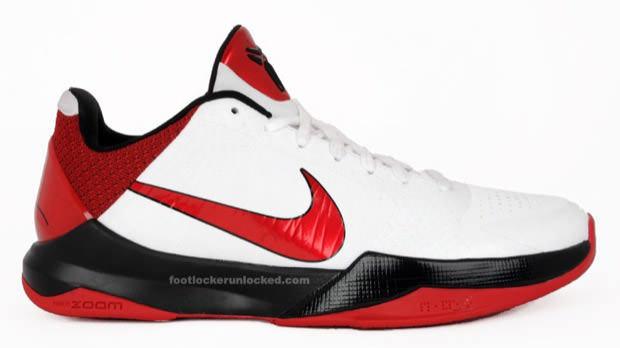 59684d3b33d0 ... Release Reminder  Nike Zoom Kobe V - White Varsity Red-Black