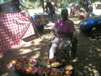 Jacob has been a market regular for over 10 years, with his papier mache bowls and containers.