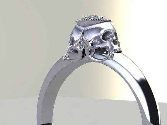 8 Unique Skull Wedding Ring in Jewelry