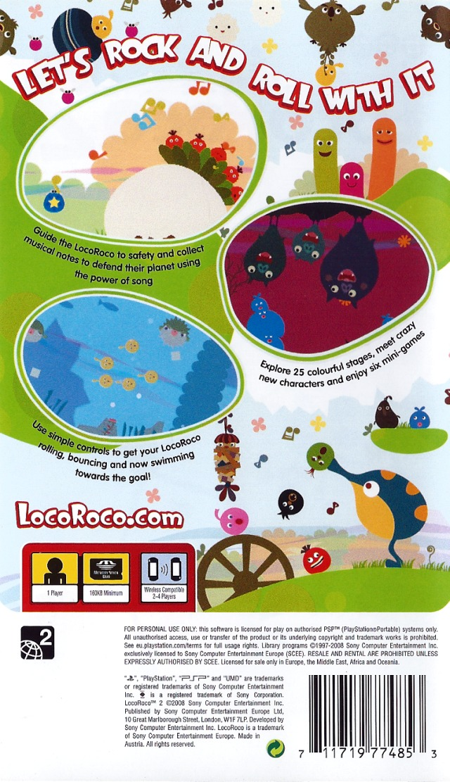 Locoroco world 2 level 2 all fruits and pickories sony psp.
