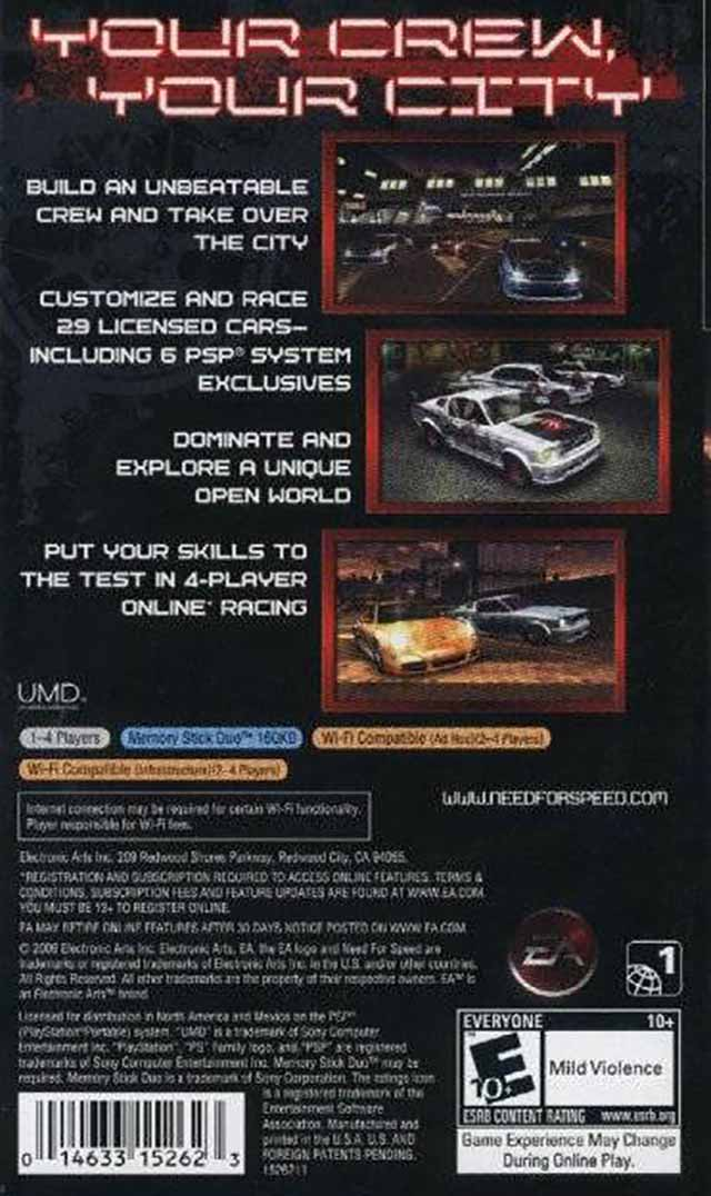 Need For Speed Carbon Own The City Usa Psp Iso Nicerom Com
