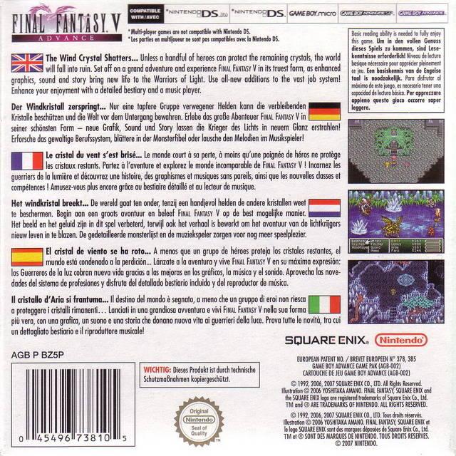 final fantasy 5 gba emulator