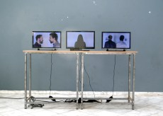 campus novel COMBAT / TWIRL / LINEAGE video installation, 2016