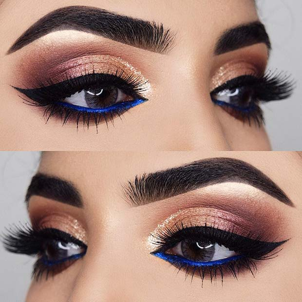 Bold Blue Eyeliner
