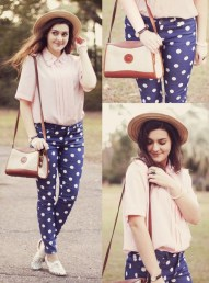 Polka-dot jeans - 9 Ways to Mix & Match Polka-dot Motifs