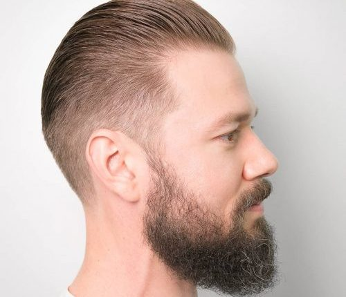 Slicked Back – Taper Haircut Trends