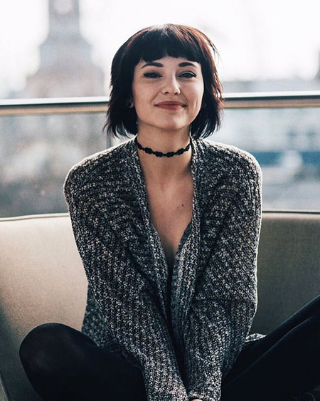 Short Haircut with Bangs