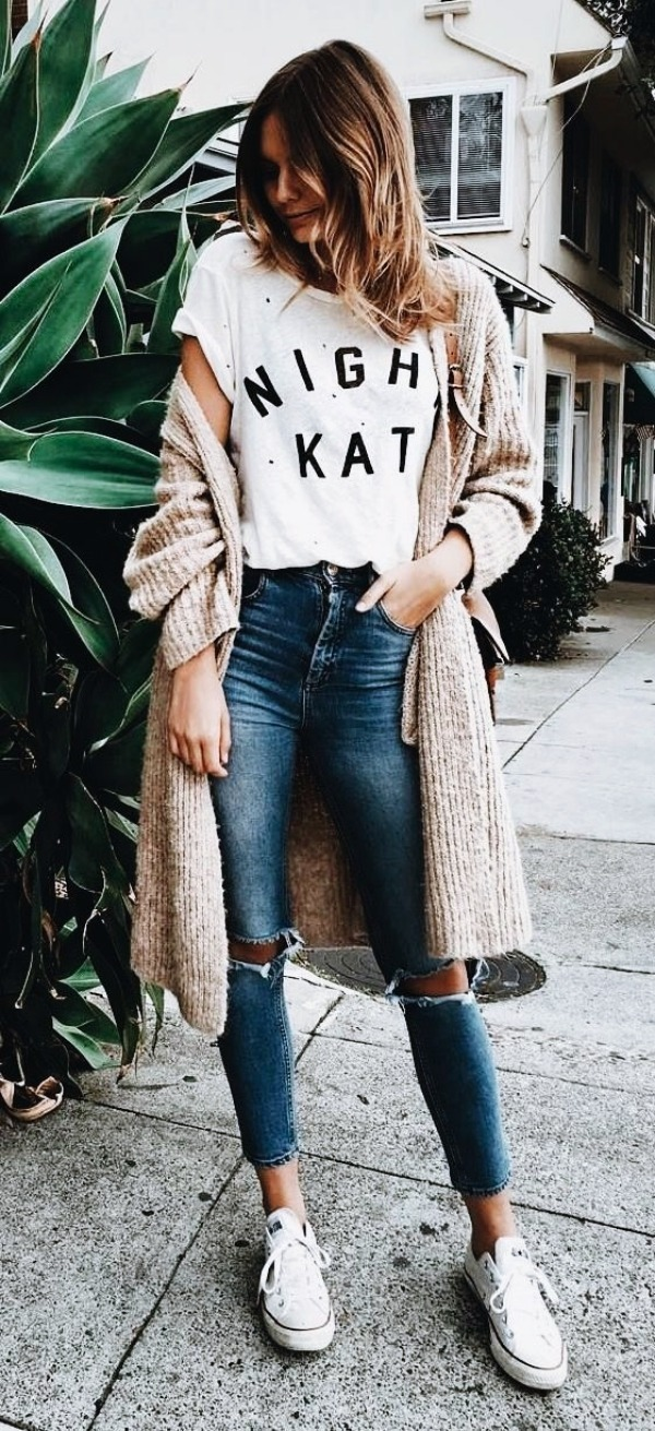 Cute way to Wear & Style Ripped Jeans