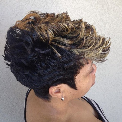 African American short spiky hairstyle