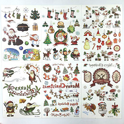 Holiday Temporary Tattoos for Kids