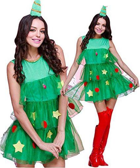 Christmas Costumes Tree Role Play Women Dress