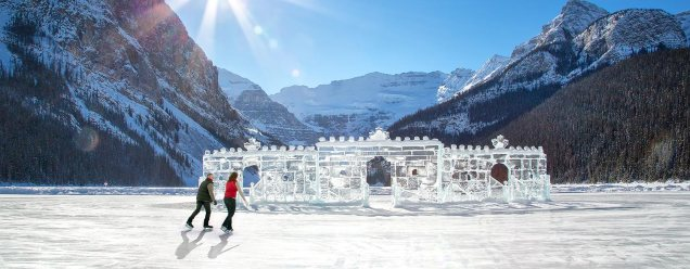 Ice Skating at Banff Lake Louise, Canada