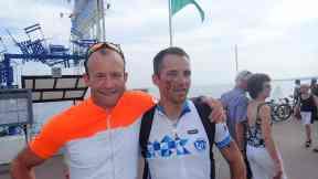 Jag och Rob, min räddare i nöden när jag kraschade på den 5:e etappen.
