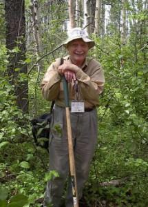 Ken Armson on a forest soils fieldtrip