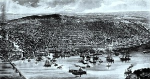 Bird's Eye View of Montreal, 1889. Source: Wikipedia