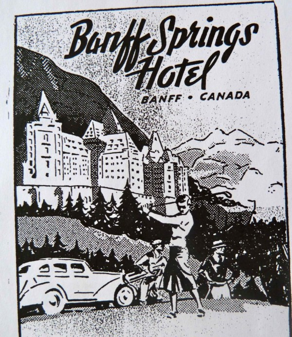 Figure 1 – Cover page of Banff Springs Hotel booklet for golf and swimming facilities. Pre-1949. Pamphlet Collection. Courtesy Canadian Pacific Archives.