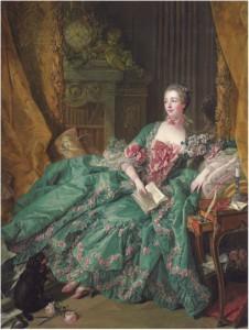 Francois Boucher, Portrait de la Marquise de Pompadour,1756