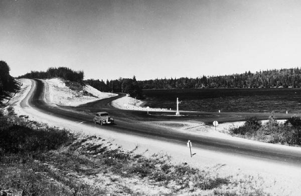 Highway 10 through Riding Mountain National Park, 1935 Photo © Parks Canada
