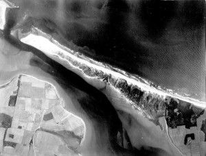 Aerial photo of Robinsons Island, PEI 1935