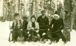 Scott Fish & Game Club, vers 1940. UQAR-Archives régionales.