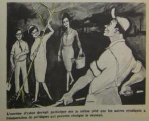 Archives CSN. Extrait du journal Le Travail, Octobre 1965.