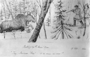 Source : Album anonyme, 1840. Collection privée; dans Histoires forestières, vol. 5, no 2, p. 10.