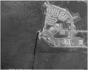 Photo # One: Air Photo of Moosonee Pinetree Radar Base, 1962, Department of History and Heritage Archives, Ottawa.