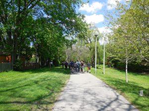 Balade dans une des voies vertes du secteur Don Mills.
