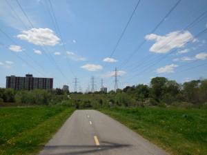 """Un """"couloirs vert"""". Secteur de York, Toronto."""