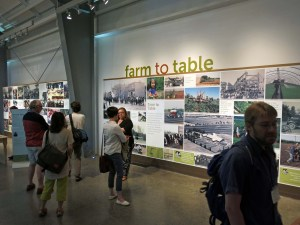 "Fig 3.) ""Farm to Table"" exhibition at the Markham Museum. Photo: Sara Spike"