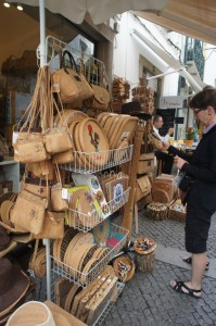 Cork products in market, Portugal. Source: Melissa Charenko