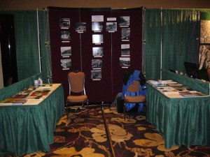 Forest History Assocation of BC booth at the Association of BC Forest Professionals meeting, 2014.