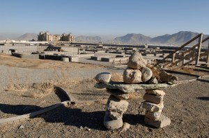 Inukshuk at Camp Julien, Kabul, Afghanistan