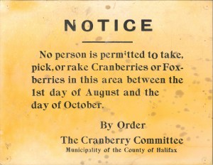 Notice posted in Clam Harbour, Nova Scotia, c1950s. Courtesy of Memory Lane Heritage Village and Eastern Shore Archives, Lake Charlotte, Nova Scotia