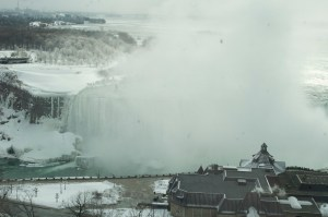 Elevated view of Horseshoe Falls in Winter 2013. Daniel Macfarlane