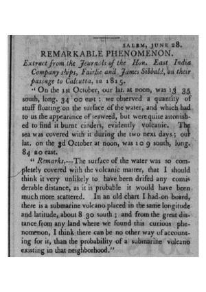1816 06 30, NB RG, Remarkable Phenomenon