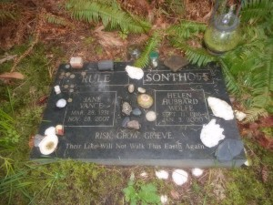 Jane and Helen, Galiano Island Cemetery. Photo: Cate Sandilands.