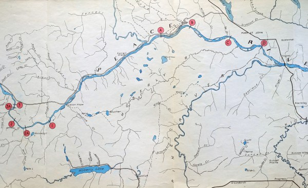 Dam Sites on the Peace River-1958-2