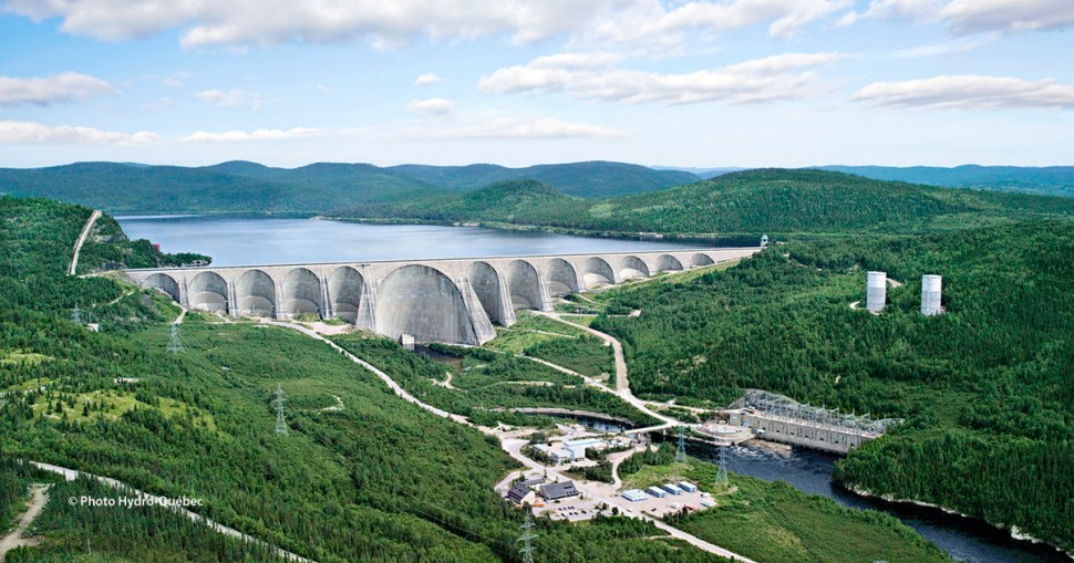 Daniel-Johnson Dam and Manic-5 Generating Station, Quebec