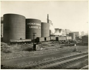 Weather factory? ADM Mill in Minneapolis, c1920. Photo: Minnesota Historical Society, MH5.9 MP3.1A