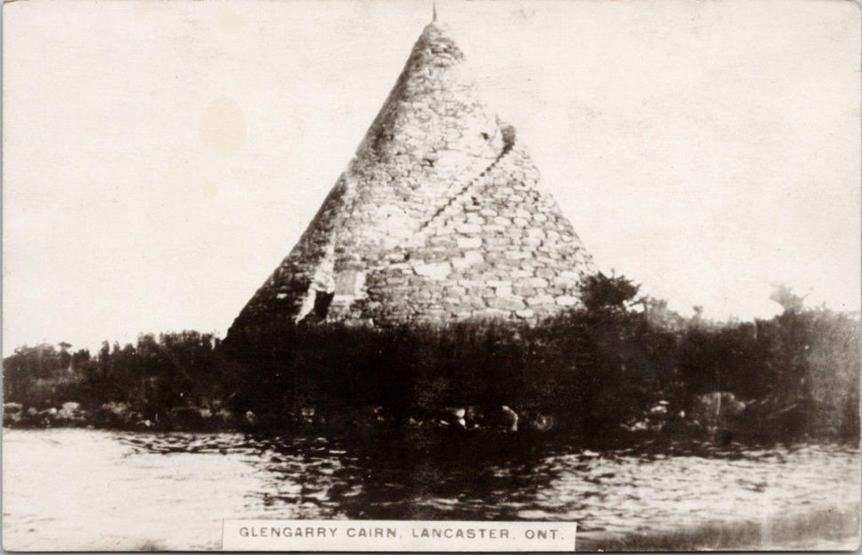 A postcard picturing the Glengarry Cairn.