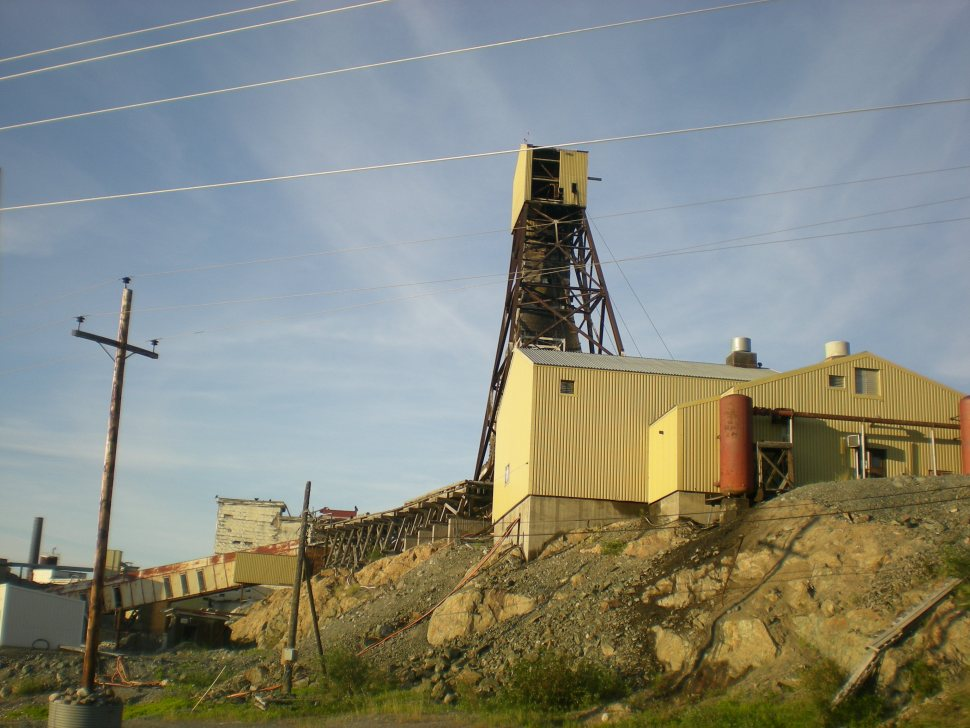 Buildings at Giant Mine in Yellowknife