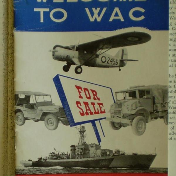"""A """"Welcome to WAC: War Assets Corporation"""" pamphlet"""