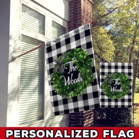 Personalized The Woods Flag Fl26 Custom Fall Garden & House Flag, Farmhouse Garden Flag All Over Printed (6228)