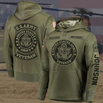 Gift for Military Custom Us Army Hoodie, Veteran Hoodie Veteran Gifts 3D Design All Over Printed(6888)