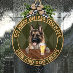 German shepherd Have Beer And Dog Treats Wood Sign 47- Wood Sign(8886)